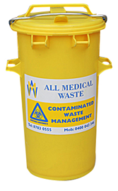 Cylindrical 50 Litre Clinical Waste Bins