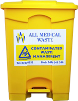 Hands Free  Clinical Waste Bins (Reduces risk of pathogen transfer